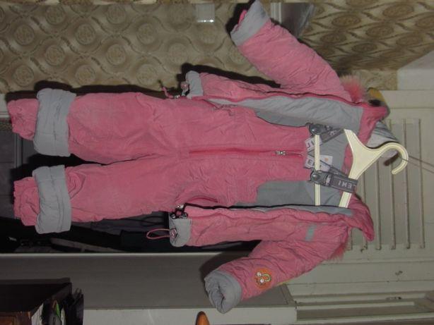 Зимние детские куртка+штаны-комбинезон BILEMI для девочки 86с
