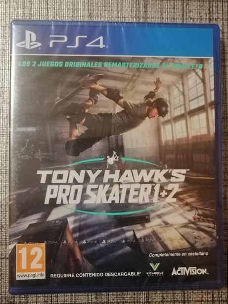 Tony Hawk's Pro Skater 1+2 Remastered PS4 - novo e selado