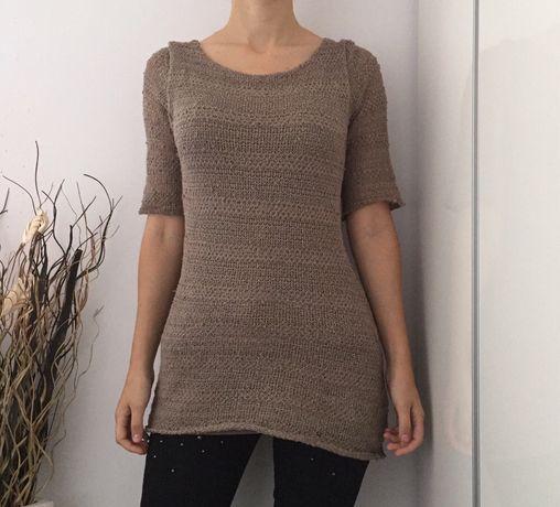 Bluzka sweterek, dekolt na plecach, rozmiar S/M