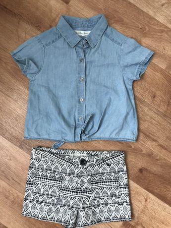 Zara 5 лет шорты рубашка футболка