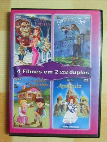 NOVO PREÇO!!! 2 DVD's duplos com 4 filmes de animação