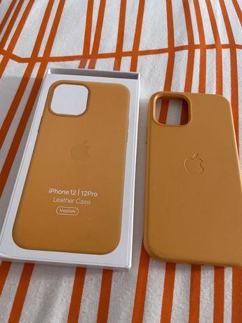 Capas em pele para iphone 12/12 Pro