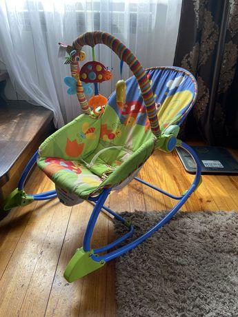 Шизлонг кресло качалка Fisher-Price