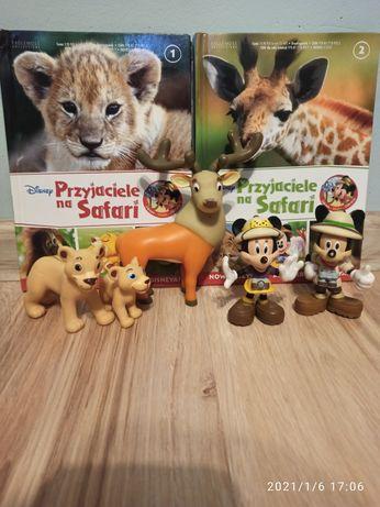 Książki Disney Przyjaciele na Safari + figurki