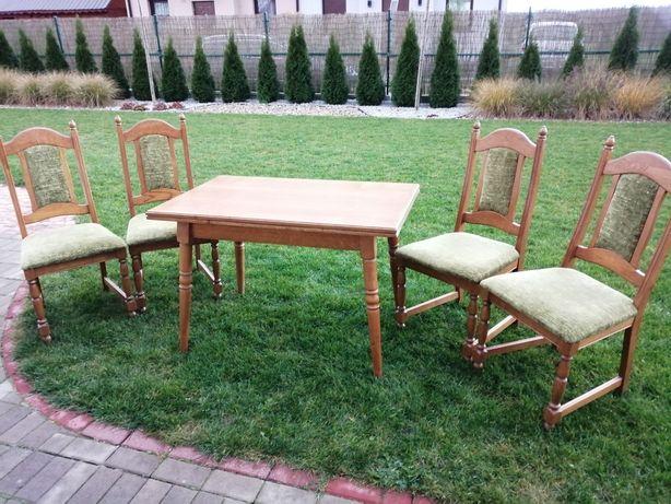 Stół dębowy +4 krzesła