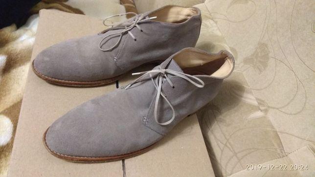 Туфлі ботинки замшеві 44-44.5