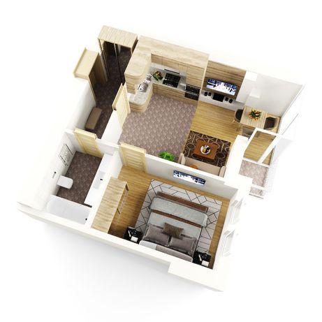 Продам, 1-кімнатну квартиру 42м.кв., ,центр міста