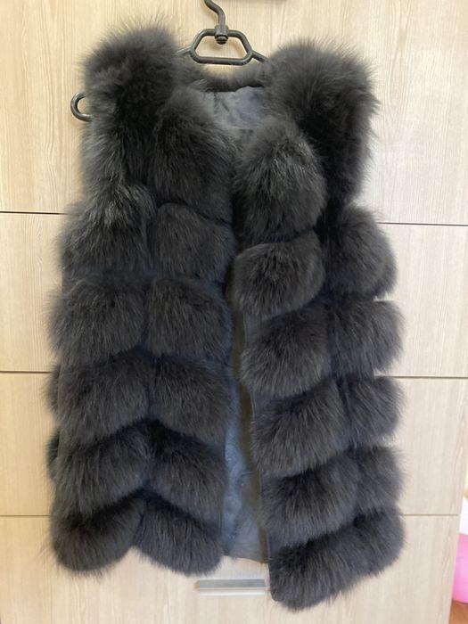 Продам меховой жилет жилетку из натурального меха песца. Цвет графит Харьков - изображение 1