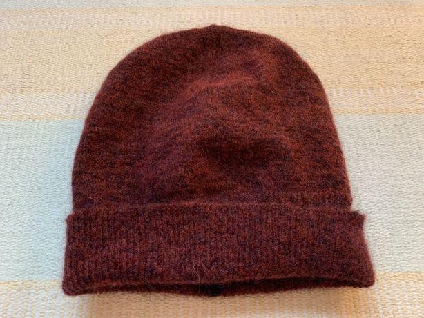 Bordowa czapka ciepła / wyprzedaż szafy !