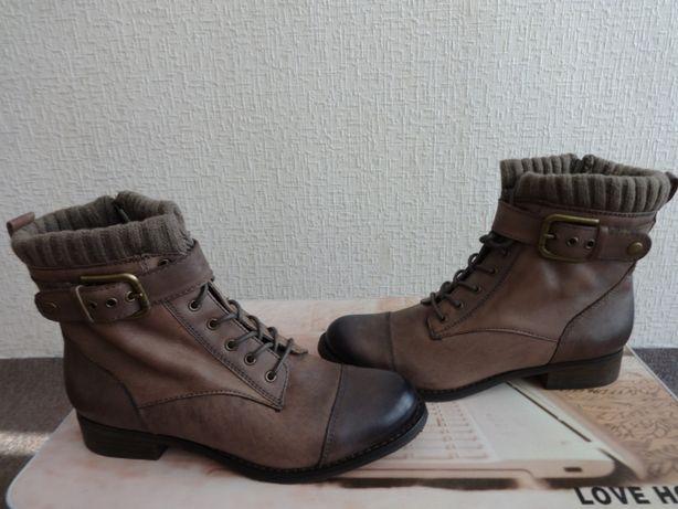 Ботинки,демисезонные,натуральная кожа.24.5 см.