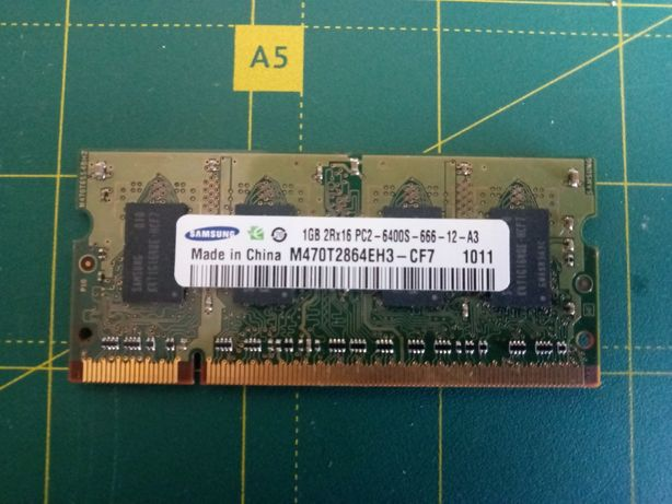 Оперативная память Samsung 1 Gb DDR2 6400S для ноутбука