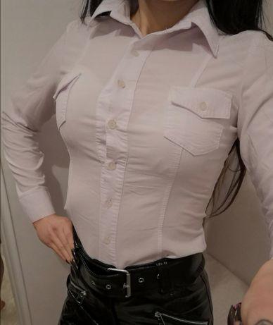 Biała prosta koszula damska xs/s