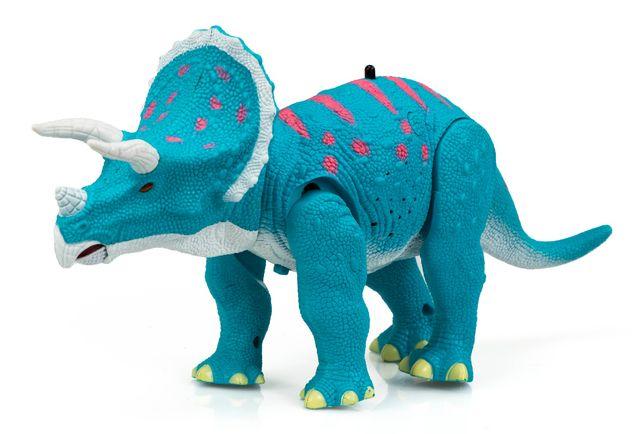Dinozaur Triceratops RC + dźwięki Zdalnie Sterowany