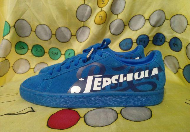 Оригинал как новые кожаные замшевые кроссовки (кеды) Puma Pepsi-Cola