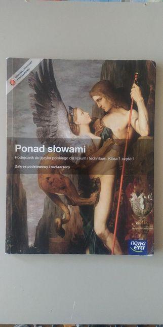 Ponad słowami klasa 1 część 1 Nowa Era język polski podstawa rozszerze
