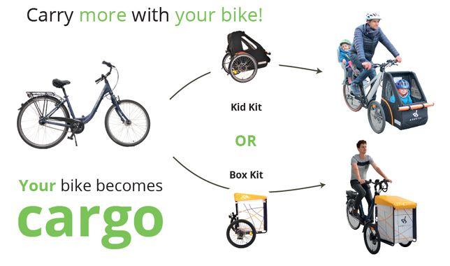Addbike rower cargo przyczepka rowerowa riksza przewóz dzieci przyczep