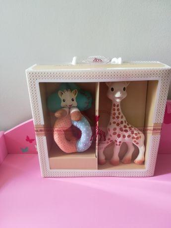 Żyrafa Sophie zestaw prezentowy gryzak grzechotka Nowe