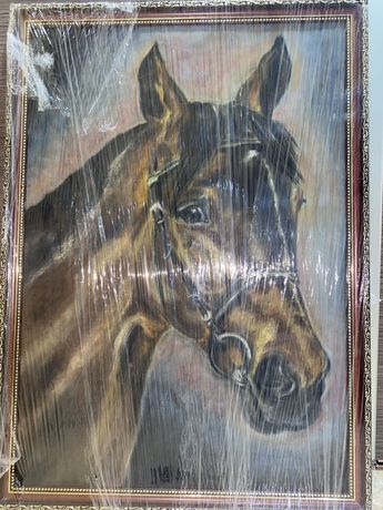 Намальована картина коня