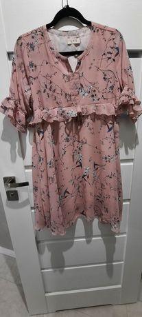 Sukienka ciążowa L kwiaty zwiewna