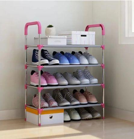 Полка для обуви на 12 пар складная на 4 полки Shoe Rack