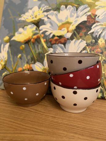 Набор пиал, супницы, салатницы, красивая посуда из керамики