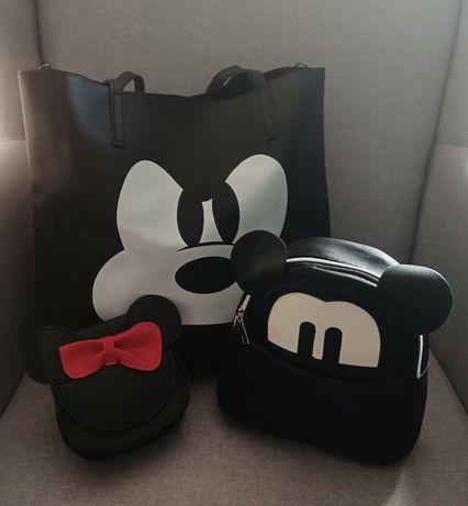 Torba placak listonoszka myszka Miki Mickey czarne