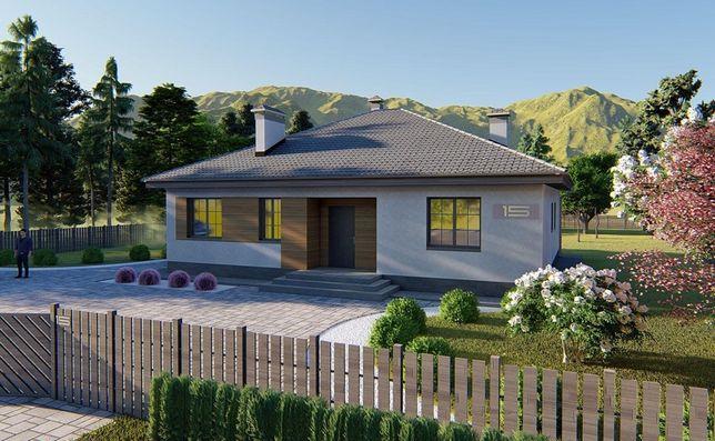 Проект одноэтажного дома 125м2
