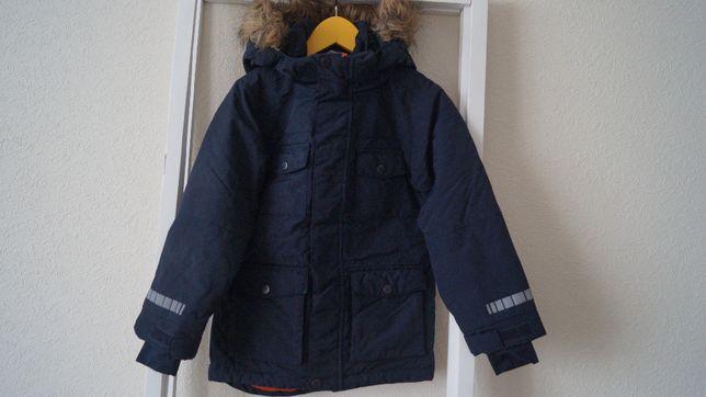 Парка Cubus, размер 6 лет, темно-синяя, демисезонная, теплая зима