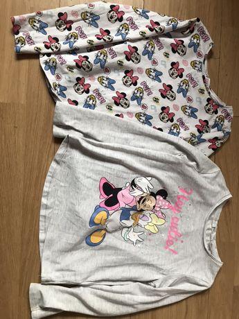 H&m bluzki bluzeczki 2pak Myszka Minnie 122/128