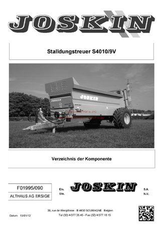 Katalog części Rozrzutnik obornika Joskin S4010/9V