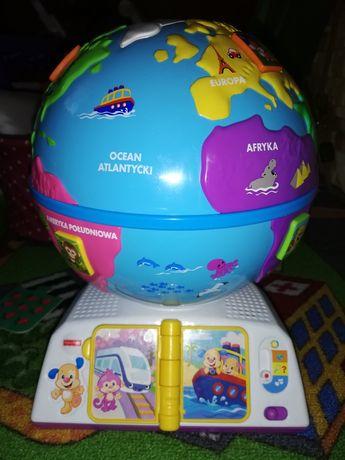 Edukacyjny globus odkrywcy Fisher Price, uczy i bawi zabawka