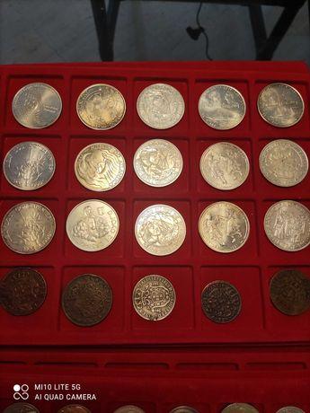 Moedas de Portugal em prata mil escudos.