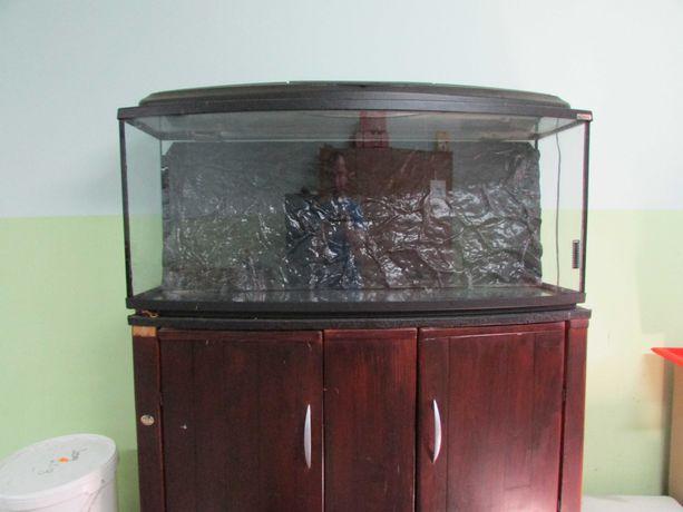 Akwarium 200l szafka tło podstawa oświetlenie