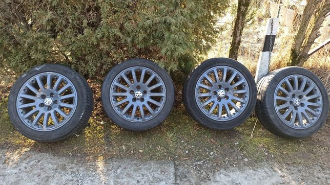 "Felgi VW BBS 17"" 5x112 opony 225/45/17 Continental, Pirelli"