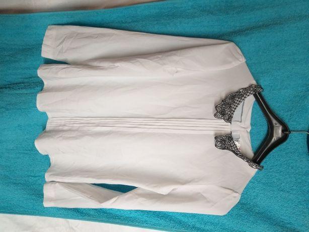 bluzka biała dziewczęca długi rękaw PATI 158