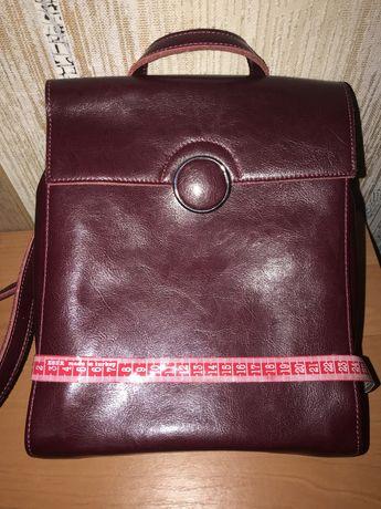 Акция!!! Натуральная кожа! Рюкзак(сумка)-450 грн
