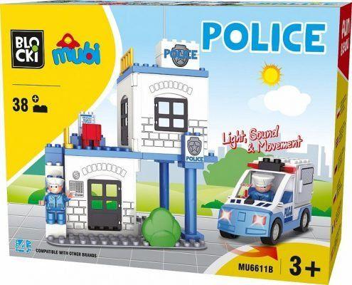 Klocki Blocki Mubi MU6611B komisariat policji radiowóz 38 el
