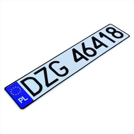 Polskie tablice rejestracyjne -kolekcjonerskie