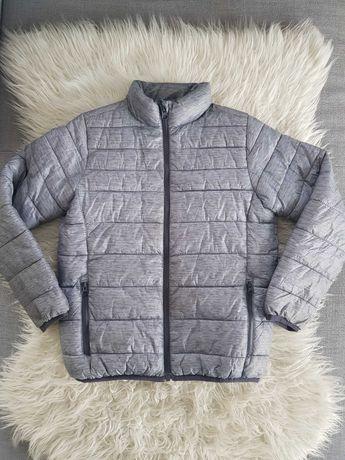 Dziecięca kurtka szara, z workiem,  rozm. 128