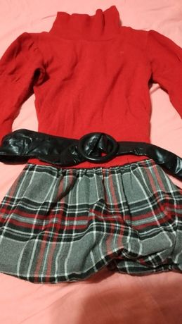 Теплое платье-туника, размер 6-8 лет, б/у