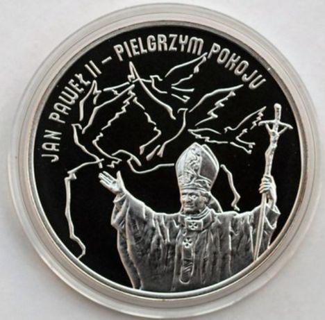 Moneta kolekcjonerska 10 zł Jan Paweł II - Pielgrzym Pokoju 2005