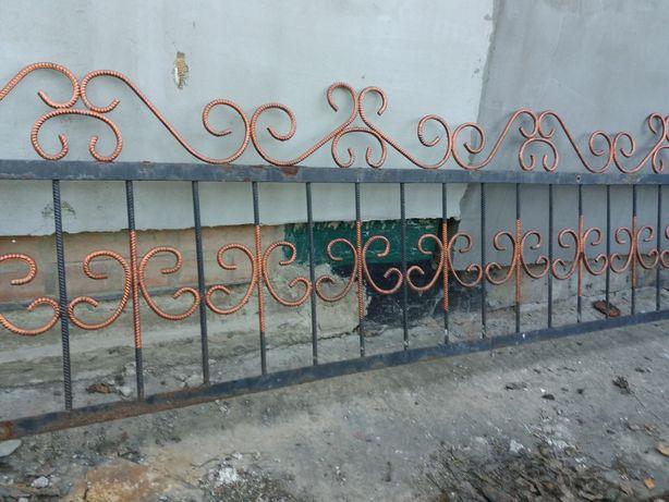 Забор секций арматура ограждение дл.3.85 кований металіческий