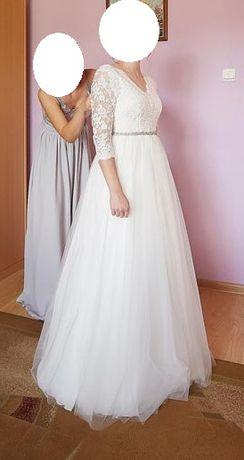 Suknia ślubna szyta na miarę + 2 welony i bolerko