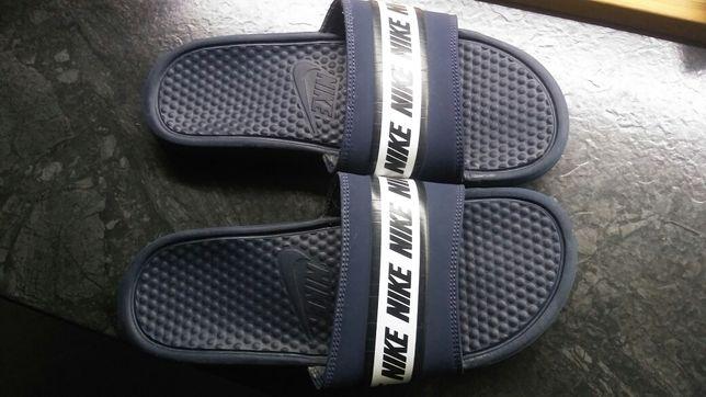 Nike 41 26cm laczki klapki męskie granatowe