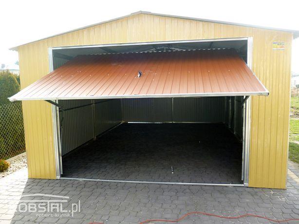 Garaż blaszany 4x6 z blachy akrylowej kolor | dostawa i montaż GRATIS