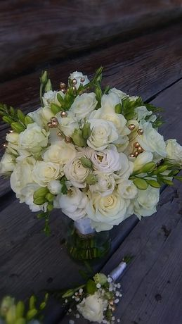 Kwiaty do ślubu, bukiet ślubny, butonierka, dekoracja sali i samochodu
