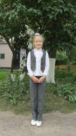 Школьная форма костюм-двойка пиджак и брюки р. 128-134