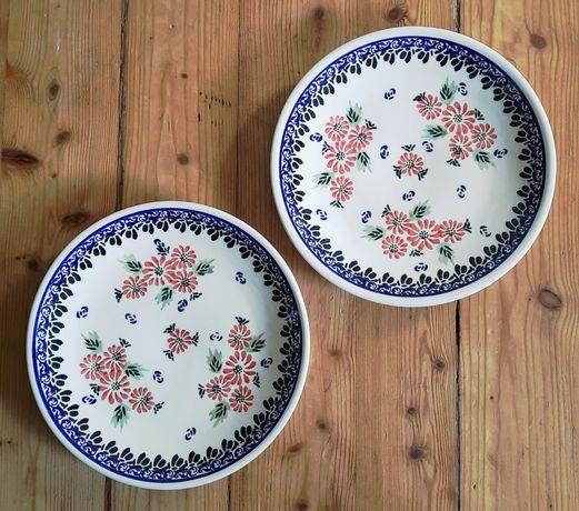 Talerzyki śniadaniowe 6szt. ceramika bolesławiecka
