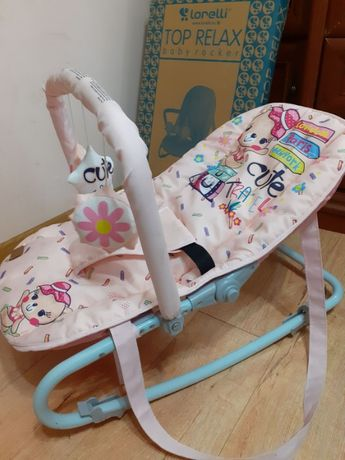 Кресло-качалка для младенцев baby rocker top relax lorelli