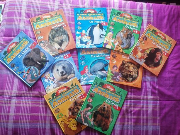 10 livros coleção mundo maravilhoso dos animais - Disney
